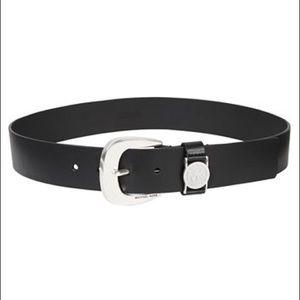 Michael Kors Black Leather Belt Large